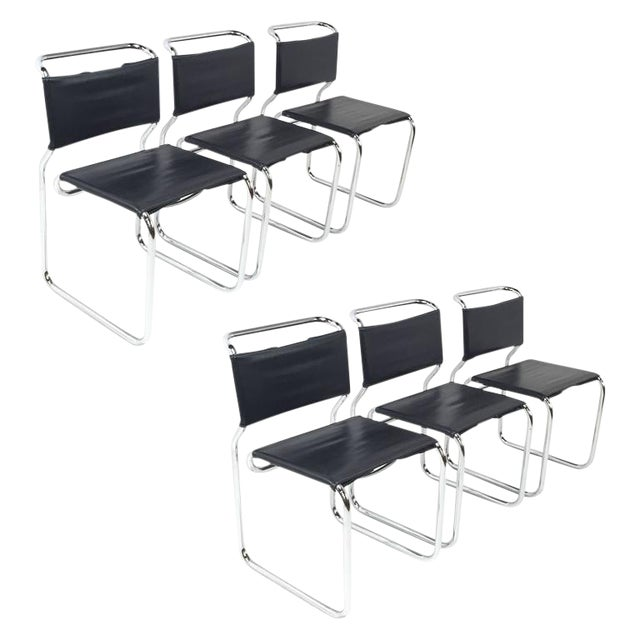 Nicos Zographos Cantilever Chairs - Set of 6 For Sale