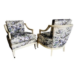 Pair of Hollywood Regency Baker Vintage Club Lounge Chairs
