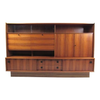 Large Vintage Modern Wall Unit For Sale