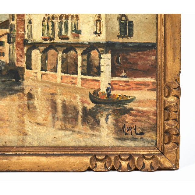 1900 - 1909 Antique Oil on Canvas of Venice For Sale - Image 5 of 10