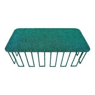 Hand Made Coffee Table of Crushed Malachite of the Congo, by Samuel Amoia For Sale