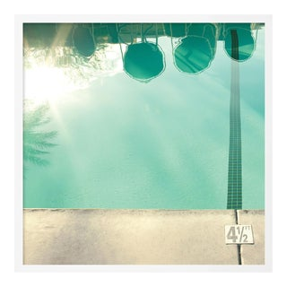 Pool Reflections by Christine Flynn in White Framed Paper, Small Art Print For Sale