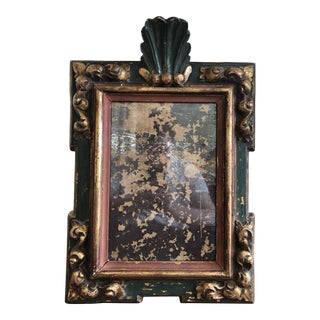 Vintage Chapman Spanish Carved Wood Mirror For Sale