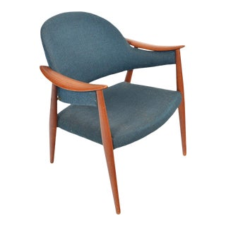 Sculptural Danish Modern Teak Lounge Chair For Sale
