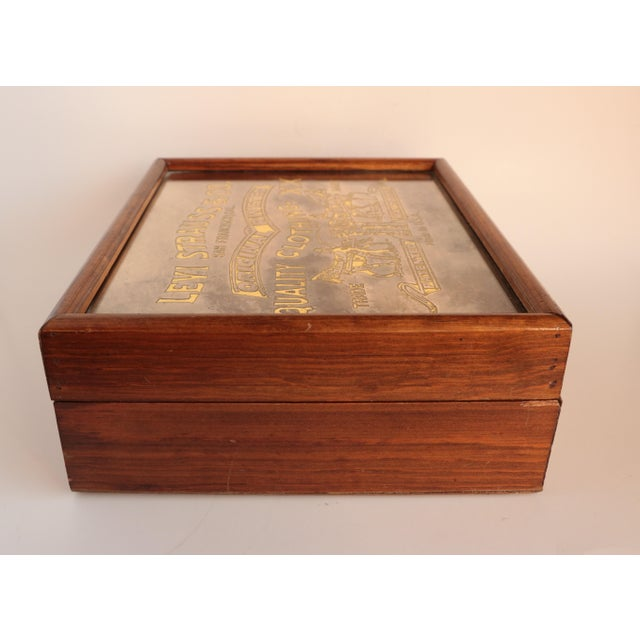 Gold Levi Strauss & Co. Centennial Box For Sale - Image 8 of 11