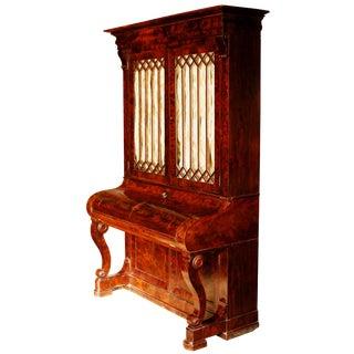 Early 19th Century Duncan Phyfe Grecian Plain Style Mahogany Secretary Bookcase For Sale