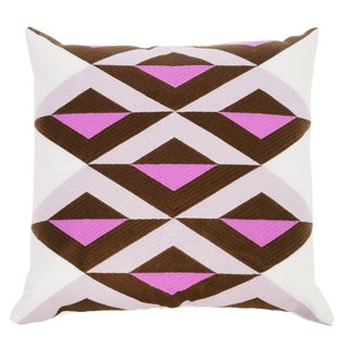 """Piper Collection Pink & White Linen """"Ginny"""" Pillow For Sale"""
