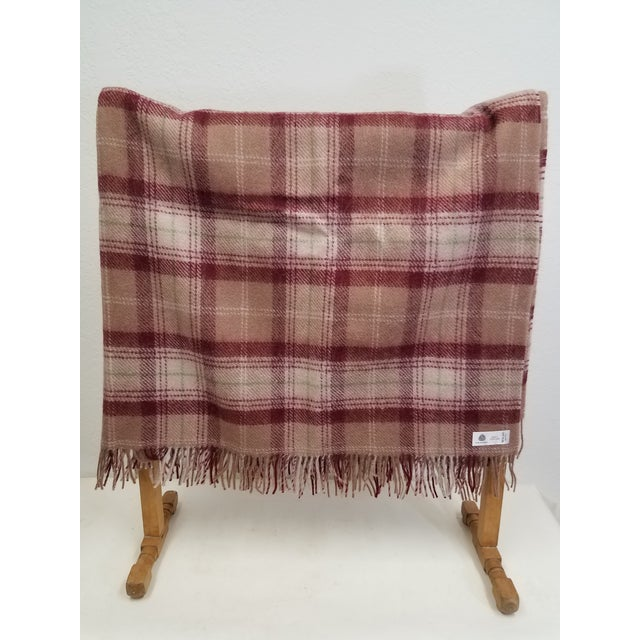 Wool Throw Green, Red, Brown and White in a Plaid Design - Made in England A versatile throw in a check design. The colors...