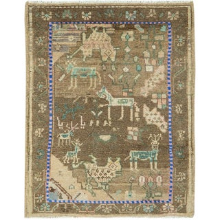 """Vintage Persian Malayer Rug – Size: 2"""" X 2' 6"""" For Sale"""