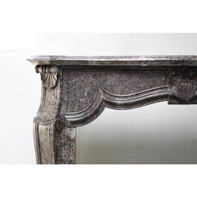 Mid 19th Century Antique Marble Fireplace - 19th Century - Louis XV For Sale - Image 5 of 9