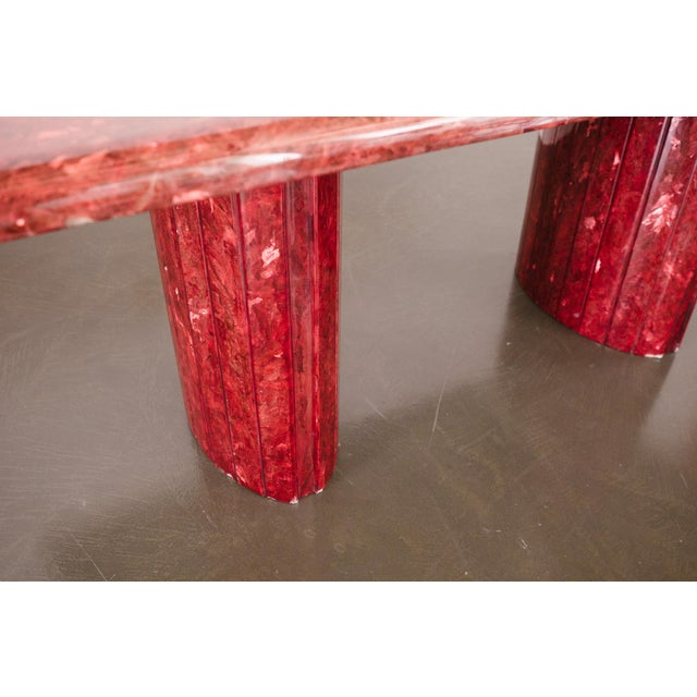 Red Quartz Dining Table For Sale In Seattle - Image 6 of 10