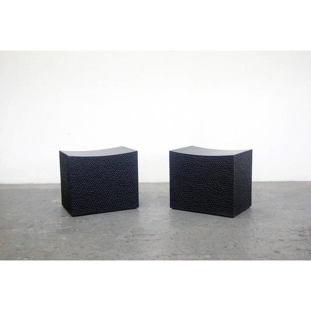 Modern Block Stools by John Eric Byers For Sale - Image 3 of 3