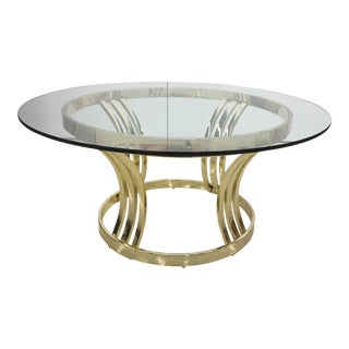 Vintage Mid-Century Modern Milo Baughman Hollywood Glam Coffee Table For Sale