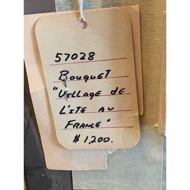 """1970s Andre Bouquet Painting """"Village De l'Ite Au France"""" For Sale - Image 10 of 11"""