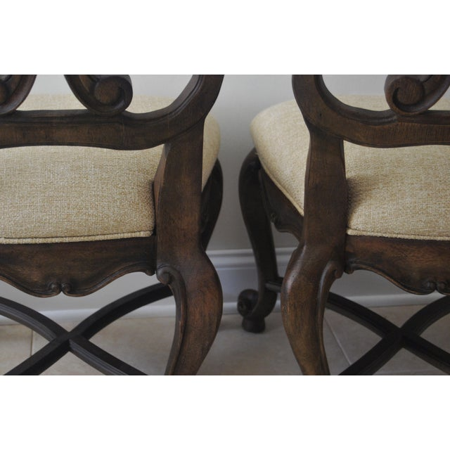 A Pair of French Style Wood Back Side Chairs - Image 8 of 11