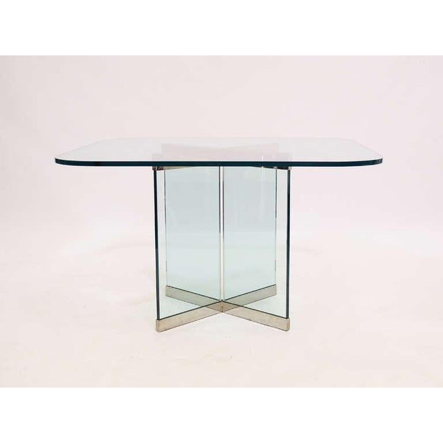 Glass & Chrome Dining Table by Leon Rosen for Pace Collection - Image 4 of 10