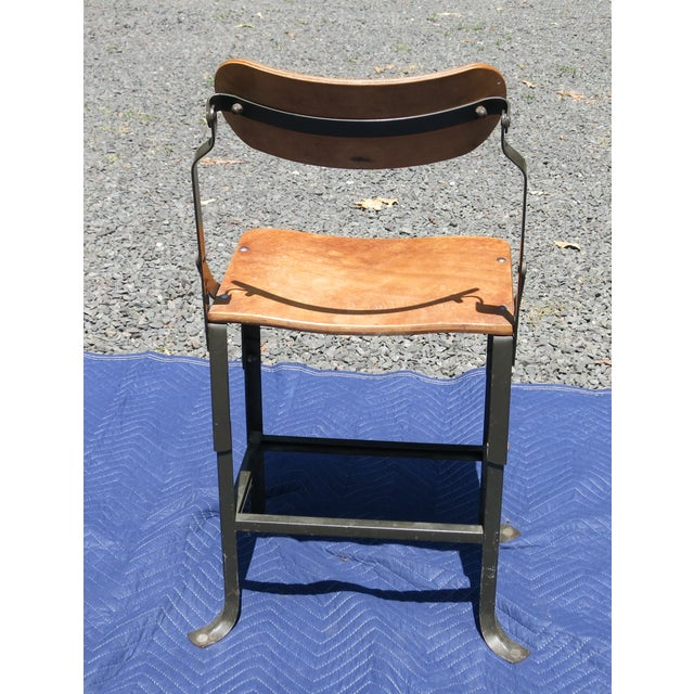 1940s Vintage Industrial Bent Plywood Chair For Sale In New York - Image 6 of 7