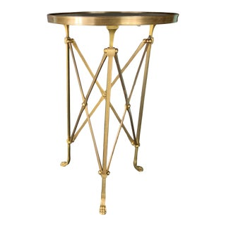 Vintage French Maison Jansen Empire Bronze Side Table For Sale