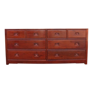 1990s Chinoiserie Rosewood Lowboy Dresser For Sale