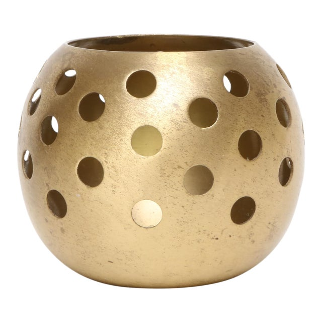 Brass Ball Candle Holder For Sale