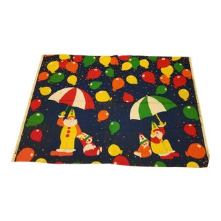 Last Call Delisting Tampella Vintage Clown Fabric Panel For Sale