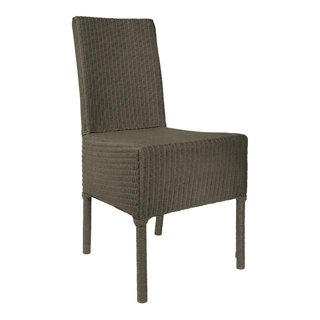 Janus et cie deauville ii gray outdoor dining side chair for Janus et cie