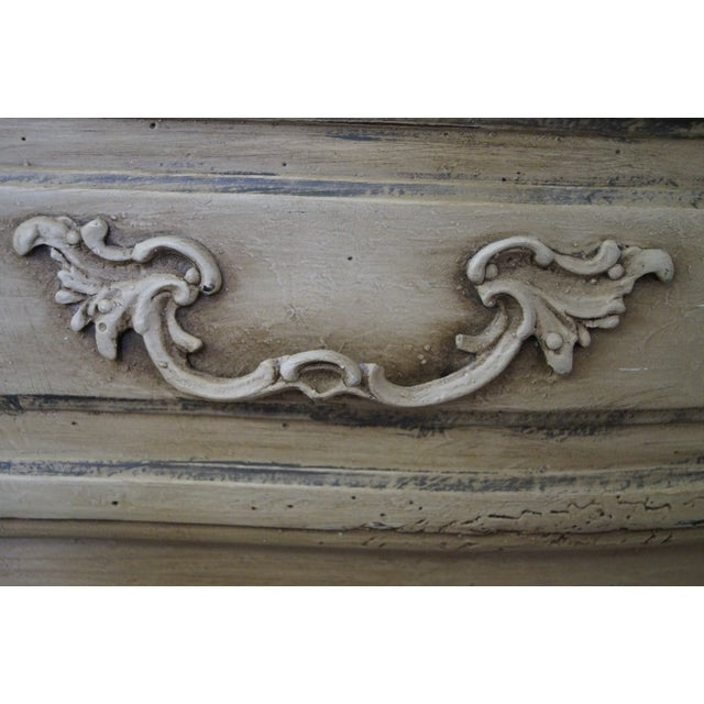 French Louis XV Style Painted Secretary Desk - Image 7 of 10