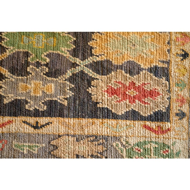 "Fiber Modern Turkish 'Miquel' Oushak Rug- 5'7"" x 7' 6"" For Sale - Image 7 of 9"