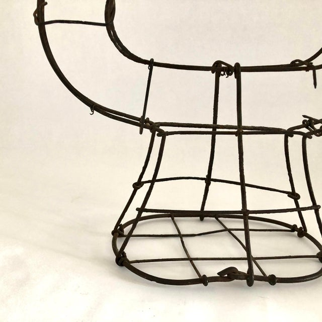 1950s Vintage Wire Topiary in the Shape of a Lyre For Sale - Image 9 of 13