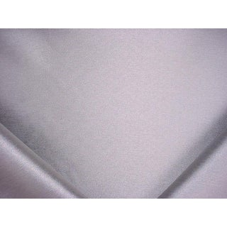 Traditional S. Harris Crystal City Metallic Silver Drapery Upholstery Fabric - 2-3/4y For Sale