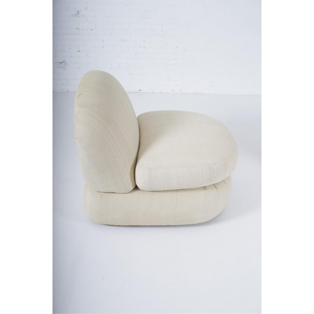 Vladimir Kagan 1970s Stacked Pouf Slipper Chairs - a Pair For Sale - Image 4 of 9