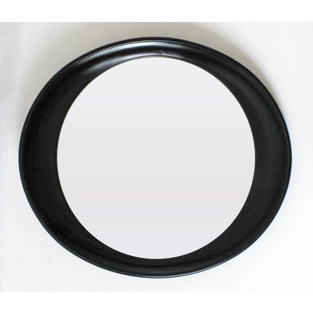 Modern Oval Framed Mirror - Image 3 of 7