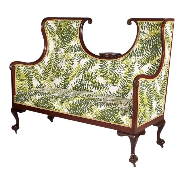 Antique English Edwardian Hall Bench For Sale