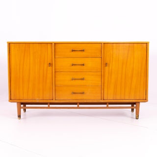Mid Century Milo Baughman for Drexel Today's Living Blonde Sideboard Preview