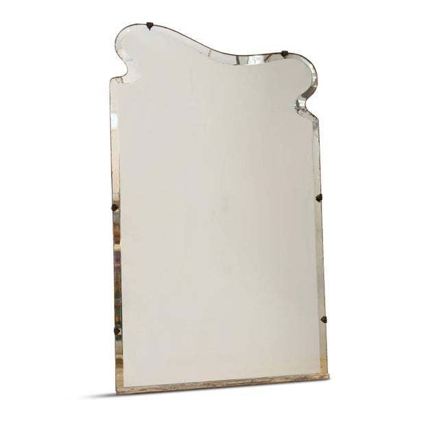 Asymmetrically-Shaped Art Nouveau Mirror For Sale In Houston - Image 6 of 10