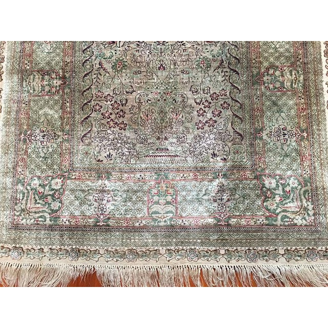 Silk Hereke Prayer Area Rug - 2′6″ × 4′ For Sale - Image 4 of 7