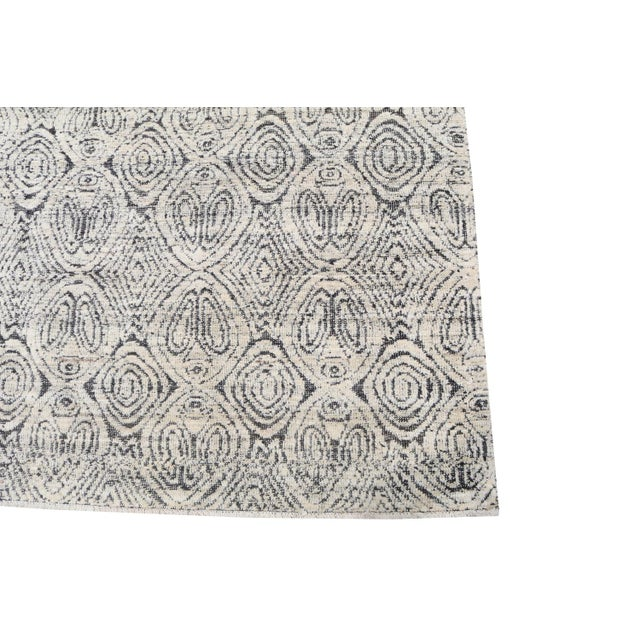 "Moroccan Style Black and White Wool Rug - 7'11""x9'8"" For Sale - Image 4 of 5"