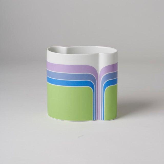 Ceramic Mid Century/Op Art Vase For Sale - Image 7 of 7