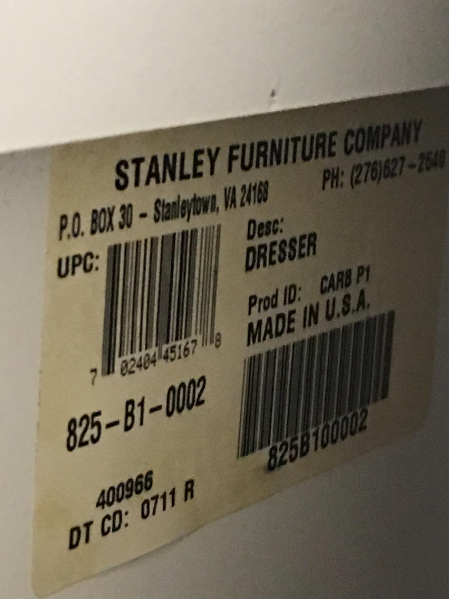 Stanley Young America White 7 Drawer Dresser   Image 9 Of 10