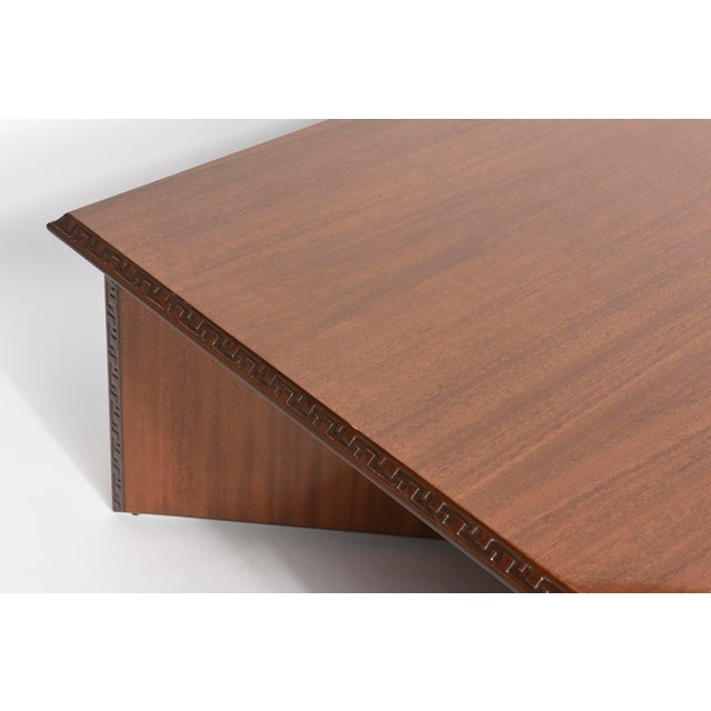 """1950s American Modern Mahogany """"Taliesin"""" Low Table, Frank Lloyd Wright For Sale - Image 5 of 9"""