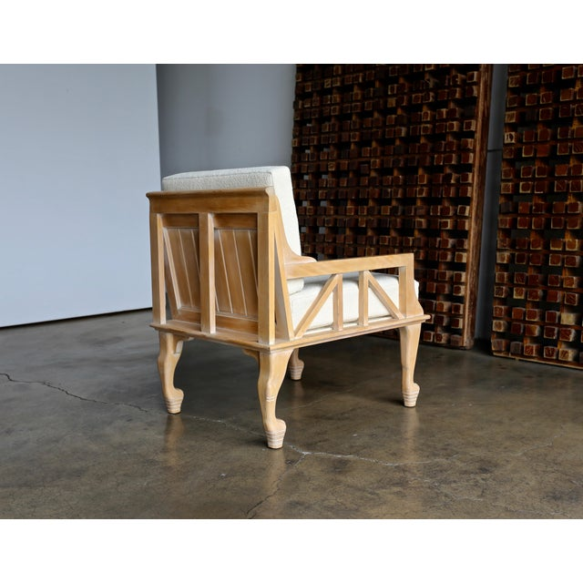"Egyptian Revival 1970s Vintage John Hutton for Randolph & Hein ""Thebes"" Chair For Sale - Image 3 of 11"
