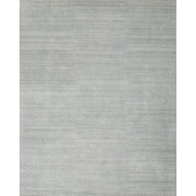 Stark Studio Rugs Contemporary Oriental Bamboo Silk and Wool Rug - 8' X 10' For Sale