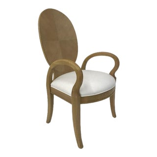 Century Furniture Oak Dining Arm Chair For Sale