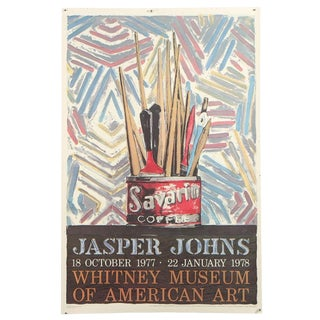 Jasper Johns Savarin Whitney Museum Vintage Exhibition Poster Lithograph For Sale