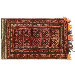 "Nalbandian - 1950s Afghan Baluch Kilim Bag Face - 2'2"" X 3'7"" For Sale"