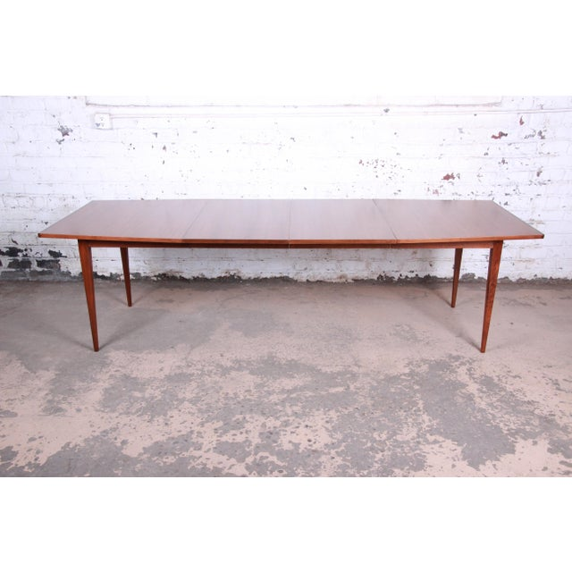 Kipp Stewart for Calvin American Design Foundation Walnut and Rosewood Boat-Shaped Extension Dining Table For Sale - Image 13 of 13