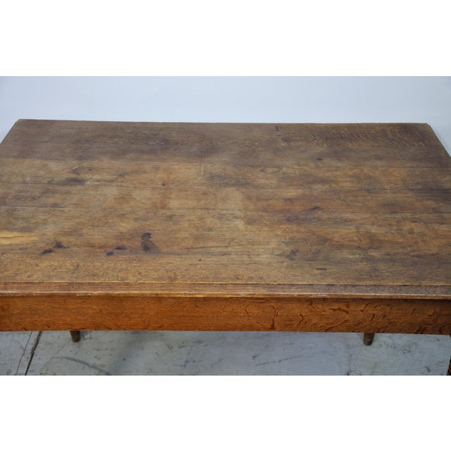 Farmhouse Vintage French Oak Farmhouse Dining Table For Sale - Image 3 of 12