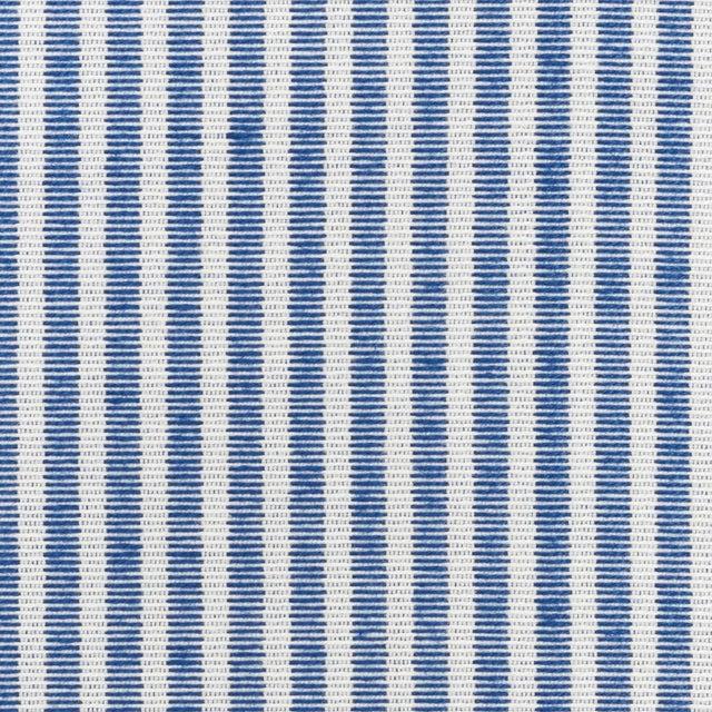 Schumacher Easton Stripe Indoor/Outdoor Fabric in Navy For Sale