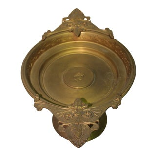 French Antique Tazza Gold Dore Face For Sale
