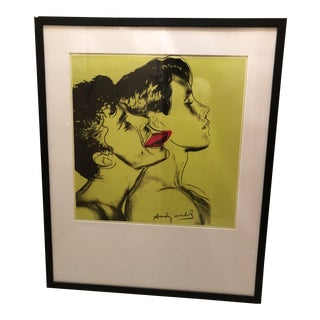 1983 Andy Warhol Querelle Green Framed Lithograph Poster Print For Sale